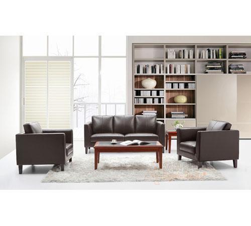 新款真皮办公沙发/办公室接待沙发