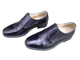 07B校尉常服皮鞋 廠家正裝男士牛皮三接頭正品3515透氣男鞋單皮鞋