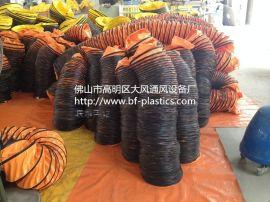 PVC伸缩通风软管,除尘排烟管道,PVC三防布通风管