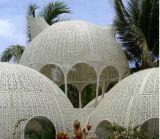天月鐵藝戶外休閒景觀亭子 金屬白色蒙古包專業定製