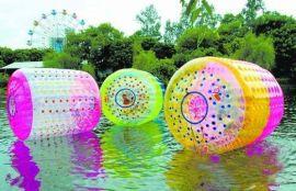水上充气大滚筒,水上行走滚筒球,充气水上滚筒玩具