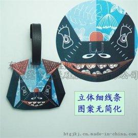 上海迪士尼硅胶纪念品行李牌工厂