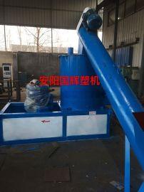 河南国辉塑机生产pvc商标纸团粒机
