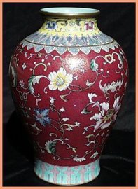清代仿古瓷[彩瓷]——150件粉彩花瓶