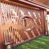 拉丝金属型材铝方管 古庙吊顶木纹铝方管型材格栅