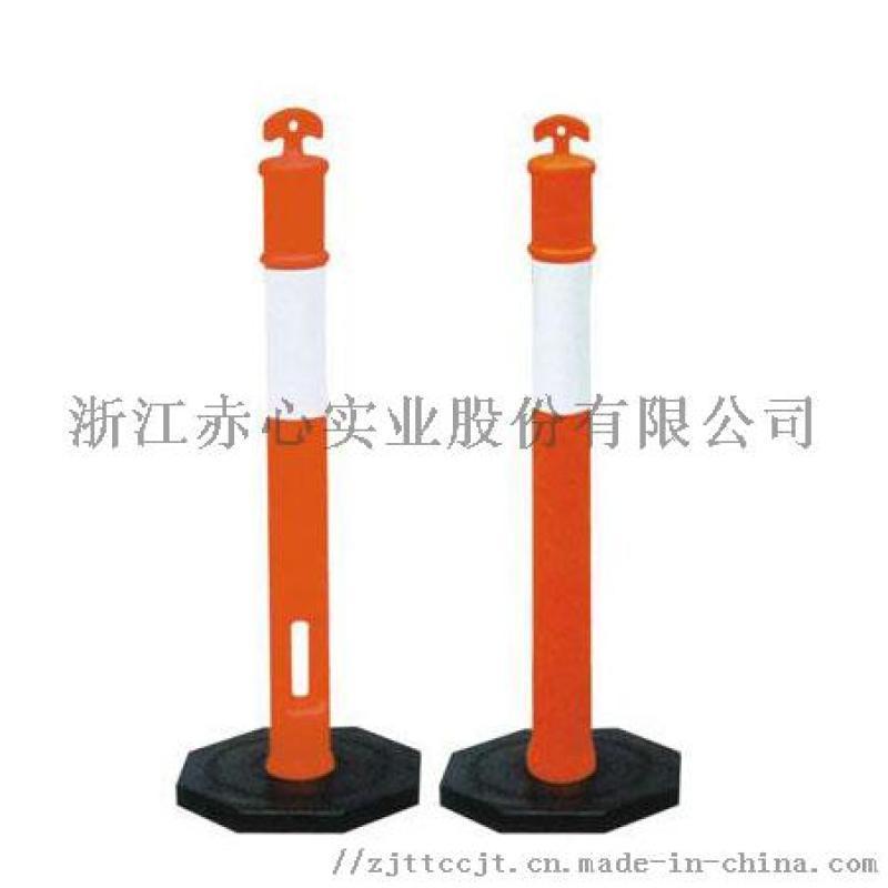 厂家橡胶警示柱 高1100mm停车场防撞隔离诱导柱