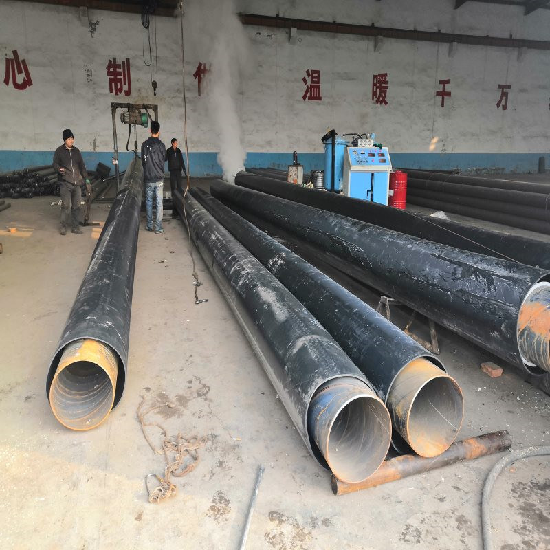 直埋聚氨酯保温管道 小口径塑套钢预制保温管