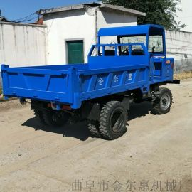 工地建筑四驱混凝土运输车 农用柴油四轮车