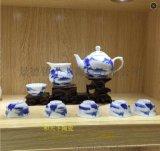 景德镇精品陶瓷简约礼品全套茶具整套青花瓷