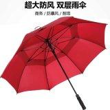 39英寸雙層直杆傘,超大長柄廣告雨傘,高爾夫傘