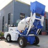 自上料混凝土攪拌車,18方4方自動上料一體罐車