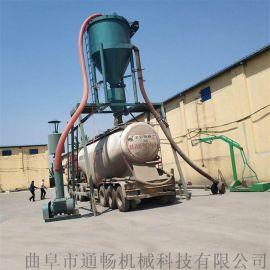 石灰石粉用气力输送机安装除尘装置垂直装罐用吸灰机