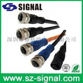 盛格纳电子_供应4pin后锁式M12连接器