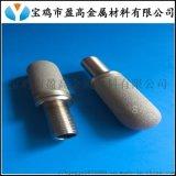 盈高定制上海新款法兰接口不锈钢烧结多孔滤芯
