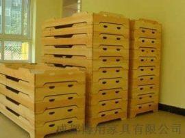 四川幼儿园重叠床厂家 四川儿童实木重叠床