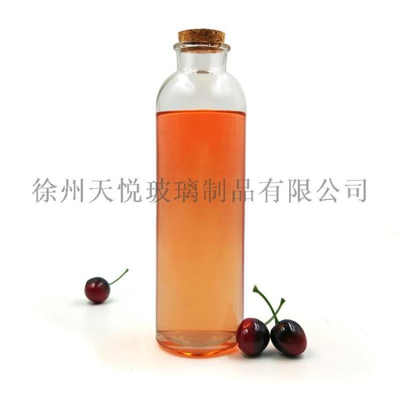 500ml软木塞冷泡茶玻璃瓶