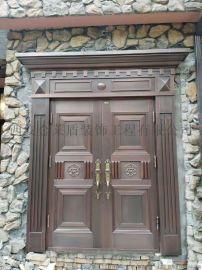 西安别墅铜门批发 单纯的铜门多重的别墅门样式