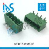 3.81间距卧式插件接线端子