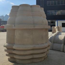 中国式建筑 grc成品构件施工
