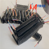 大功率大圈弹簧线3芯4芯电缆线螺旋电缆