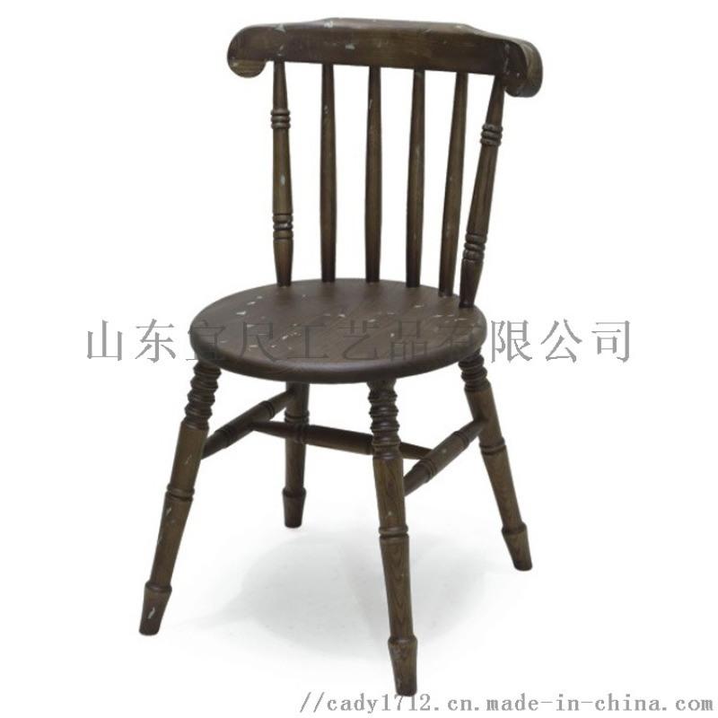 现代中式实木椅 靠背竖条靠背实木椅