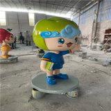 卡通玻璃鋼模型諮詢圖片 河源卡通豬雕塑