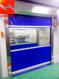 郑州硬质涡轮式快速卷帘门自动堆积门雷达感应快速门