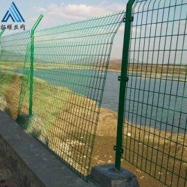 浸塑铁丝网 绿色防护栅栏