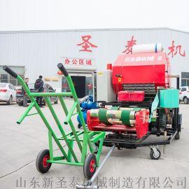 全自动打捆包膜机 农机补贴轴承外置打捆一体机