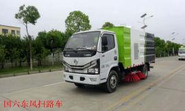 国六东风多利卡扫路车   5.5方垃圾清扫车