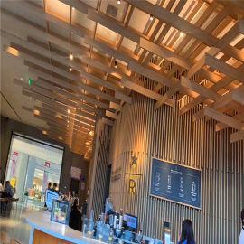 梯田造型吊顶铝方管 种子吊顶木纹铝方管