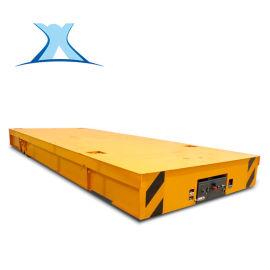 pc构件搬运铁轨动力平板 直流电动无轨平台车