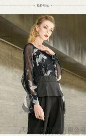 艾沸2020早春套头五分袖拼接裙子怎样开实体服装店