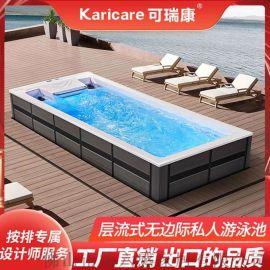 家用无边际泳池endless pool 恒温加热