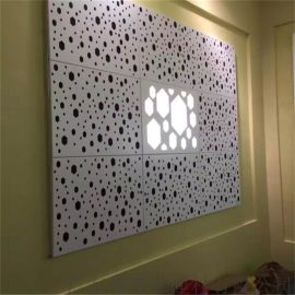 室外冲孔铝单板生产 广东木纹冲孔铝单板