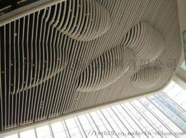 木纹造型铝方通天花金属装饰铝板
