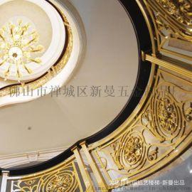 现代装修纯铜楼梯扶手热度居高不下