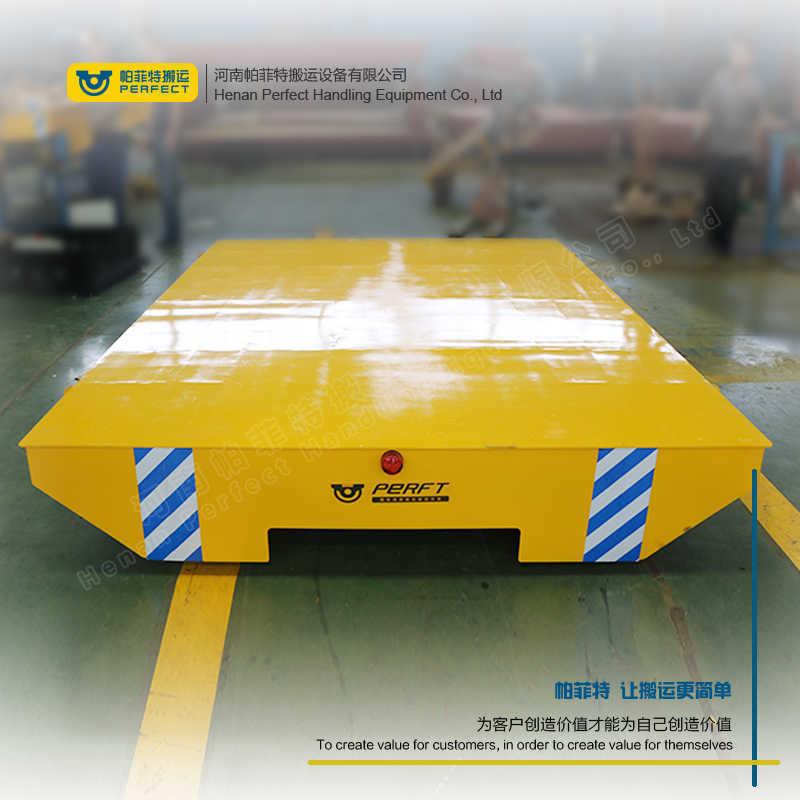 轨道供电车间大件运输设备 定制非标蓄电池电动平板车