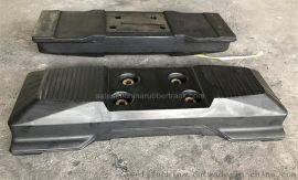 挖掘机橡胶履带板、小型橡胶履带板、订制橡胶履带板