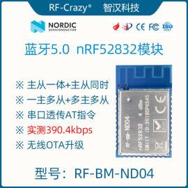 蓝牙5.0 nRF52832 低功耗 无线射频串口透传模块模组主从一体同时