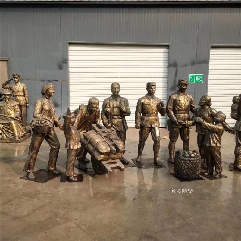 厂家直销玻璃钢人物雕塑,**战士英雄雕像