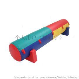 **侯直销热卖儿童感统训练器材充气柱骑马玩具