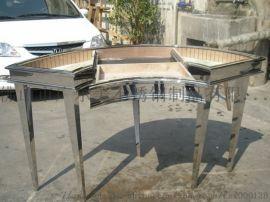 弧形不锈钢展示柜 无指纹不锈钢展示架厂家
