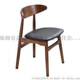 餐厅实木椅子,白蜡木蝴蝶椅,休闲北欧风格餐椅
