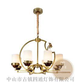 全銅吊燈具有哪些吸引人的地方-銅木源燈飾加盟