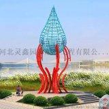 不鏽鋼燈泡雕塑