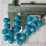 深圳供12MM实色直孔压克力珠子塑料珠