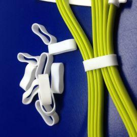 环保耐高温硅胶扎带 便捷式数据线收纳带圆形绑线圈