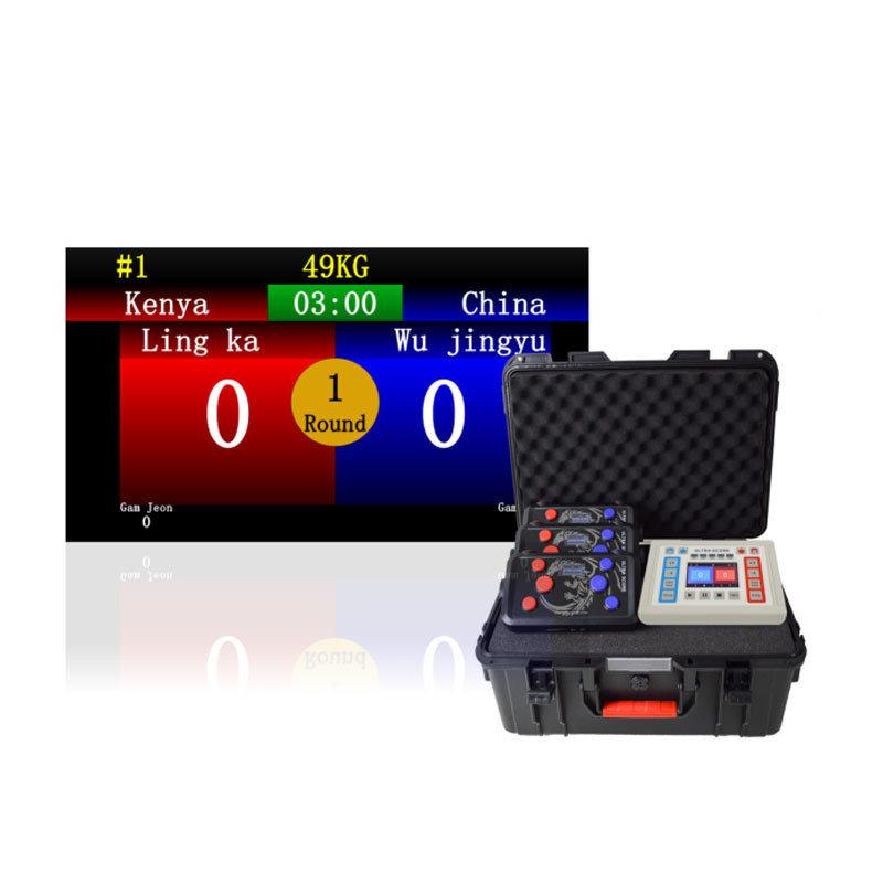 江海电子跆拳道计时记分系统打分控制台计时显示屏