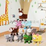 动物毛绒凳换鞋凳矮墩创意家用儿童凳